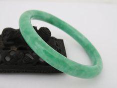 Vintage Natural Apple Green JADE Jadeite by wandajewelry2013