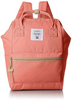 Japan Anello Backpack Unisex MINI SMALL CORAL PINK Rucksack Canvas Bag Campus ** Read more reviews of the product by visiting the link on the image. (This is an Amazon Affiliate link and I receive a commission for the sales)