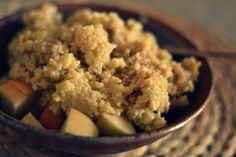 Mandelmus und Patschehand: Hirsebrei mit Äpfeln