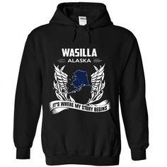 Wasilla - #teacher shirt #hoodie drawing. LIMITED TIME => https://www.sunfrog.com/LifeStyle/Wasilla-1138-Black-Hoodie.html?68278