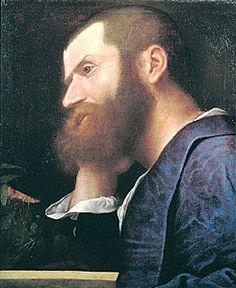 Tiziano TITIAN VECELLIO / Portrait of Pietro Aretino,  [Ritratto di Pietro Aretino] Unknown - Oil on canvas,  65 x 53.5 cm  [HxW] Marco Voena, Milano