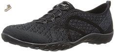 Skechers Sport Women's Breathe Easy Fortune Knit Fashion Sneaker, Black Knit, 7.5 M US - Skechers sneakers for women (*Amazon Partner-Link)