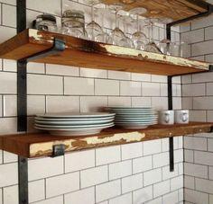 scaffold plank shelf black bracket - Google Search