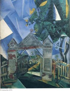 Marc Chagall Gates of the cemetery