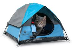 Cat Camp, a miniature tent for cats with a fluffy microfibre interior.   We spent the last 8 months purrrfecting our design to be the highest quality and most comfortable cat-friendly product possible. Designed to give your kitty a great little hideaway that looks great in any house.