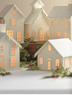 .my grandmother had a very similar village which she put out each Christmas when I was a little boy.