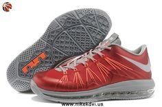 Red Gray Orange Nike Air Max Lebron 10 Low