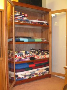 Homemade Cherry Wood Quilt Display Cabinet by brige66, via Flickr