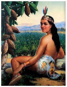 Afbeeldingsresultaat voor vintage mexican pin up art Mexican Artwork, Mexican Folk Art, Jesus Helguera, Jorge Gonzalez, Arte Latina, Aztec Culture, Mexican Heritage, Mexico Art, Aztec Art