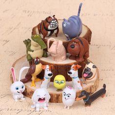 14Pcs/bag New 2016 The Secret Life of Pets LPS Little Pet Shop Toys Animal Cute Cat Dog Action Figures Collection Kids Toys Gift