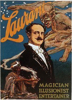 Laurant Magician Illusionist Magic Poster