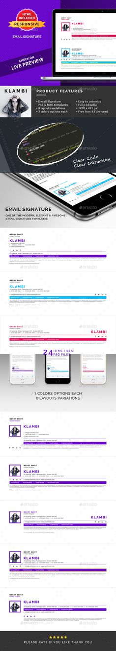21 best email signature template images on pinterest email