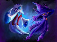 Froslass and Mismagius by OnixTymime on deviantART.