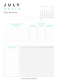 July Goals Planner free printable. Get your free monthly planner and achieve anything this month. Plus get your free desktop calendar!
