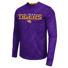 """LSU+Tigers+""""Sleet""""+Men's+Embossed+Long+Sleeve+Athletic+Tee+by+Colosseum"""