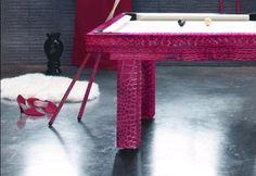 Toulet Penelope Pink Crocodile Pool Table