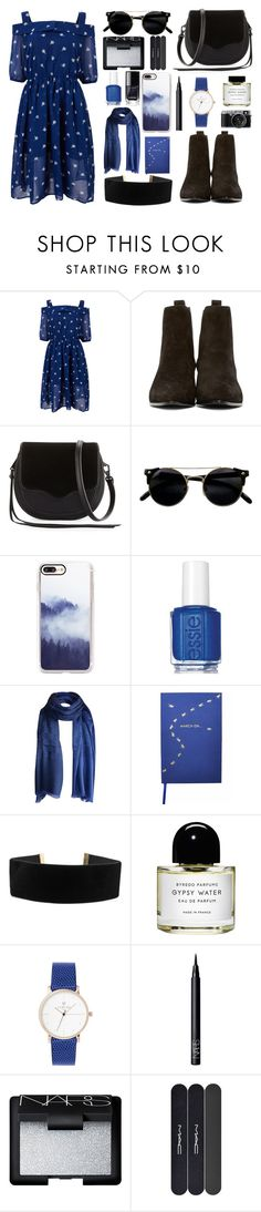 """Chelsea boots"" by lillybluemoon on Polyvore featuring Yves Saint Laurent, Rebecca Minkoff, Casetify, Essie, Gucci, Sloane Stationery, Byredo, NARS Cosmetics and MAC Cosmetics"