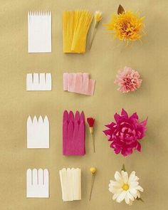 Blumen basteln How to make Crepe Paper Flowers by marthastewartweddings www.mein… Blumen basteln How to make Crepe Paper Flowers by marthastewartweddings www. Diy And Crafts, Craft Projects, Crafts For Kids, Arts And Crafts, Craft Ideas, Diy Ideas, Baby Crafts, Ideas Party, Decor Crafts