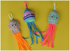 Sock + Octpus = Socktopus! Use a recycled sock to create a cute octopus friend.