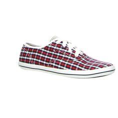 #Tommy Hilfiger Sneaker als Cancas in schickem Karo-Look #Rot Blau Weiß
