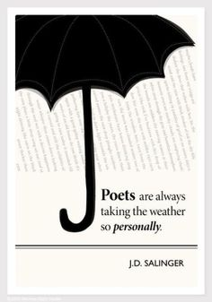 Illustration, J. Salinger Quote, Fine Art Print and Art Posters, Umbrella Art.hahaha so true! Writing Quotes, Words Quotes, Wise Words, Me Quotes, Author Quotes, Literary Quotes, Poetry Quotes, Book Quotes, Writing Posters
