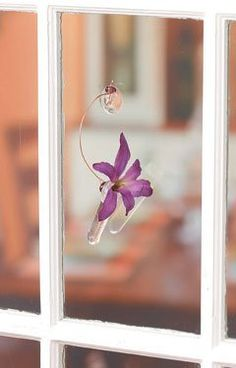 Hanging hummingbird feeder DIY