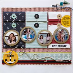 Stacy Cohen: What a busy time of year!  Layout using the Down by the Shore collection by Fancypantsdesigns.com