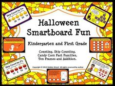Halloween Smartboard Fun Math:  Kindergarten and First Grade