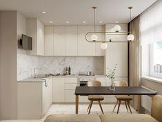 Small Apartment Kitchen, Home Decor Kitchen, Home Kitchens, Flat Interior Design, Interior Design Kitchen, Apartment Design, House Rooms, Decoration, Sweet Home