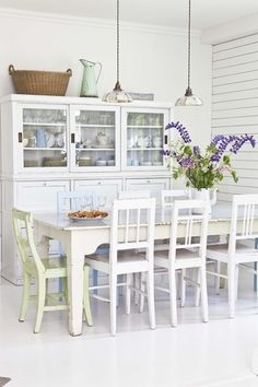 FROM MY WINDOW: A NORDIC KITCHEN IN PASTEL TONES / A NORDIC KITCHEN IN PASTEL SHADES  Love the cabinet.. quite like this kitchen.
