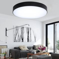Modern Iron Round Black White LED Ceiling Lights for Living Room Bedroom Indoor Ceiling Lamps Item Type: Ceiling LightsCertification: EMCCertification: CCCCertification: GSCertification: RoHSCe Lounge Lighting, Living Room Lighting, Modern Led Ceiling Lights, Ceiling Lamps, Bedroom Ceiling Lights, Living Room Bedroom, Light Fixtures, Home Decor, Apartments