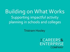 Building on What works via @Pigironjoe