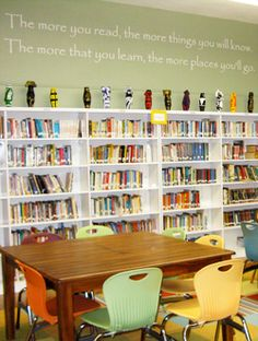 School+Library+Decorating+Ideas | Words quotes in School Library - Kids quotes for School Library With ...