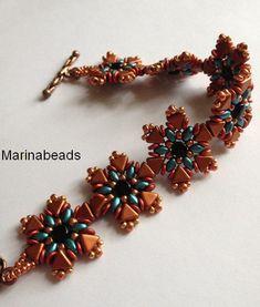 KIT Nubia bracelet Copper/emerad por MarinaBeads06 en Etsy