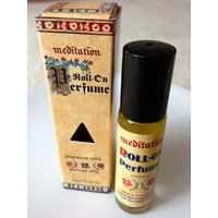 Meditation Roll-On Perfume Oil. The famous #MeditationBlend combines 12 ancient oils which create a rich and pure fragrance with an evocative, deeply satisfying quality. Meditation range products are made from the highest quality #essential #oils blended with biodynamic carrier oils. List of natural ingredients: Soya Bean Oil, Peanut Oil, #Benzoin, #Patchouli, #Orange, #Lavender, #Tolu Balsam, #Cedarwood, #Sandalwood, #YlangYlang, #Bergamot, #Nutmeg, #Clove leaf Oil, Olibanum, Fragrance.