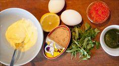 Tunfiskrøre med bløte egg