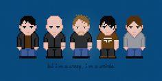 Radiohead Rock Band Digital PDF Cross by AmazingCrossStitch