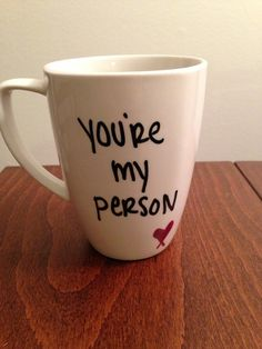 I want someone to give this to me and actually mean it.   Grey's Anatomy mug by TwentySevenThings on Etsy, $15.00