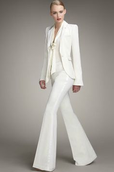 Would love to rock an all white pant suit