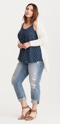 Plus Size Georgette Crisscross Cami