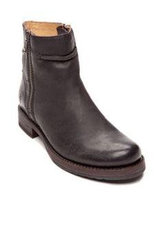 Frye Black Veronica Seam Short Boot - Online Only
