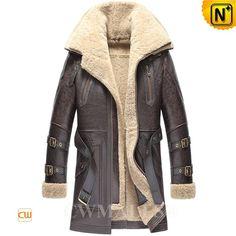CWMALLS® Denver Mens Sheepskin Trench Coat CW807149