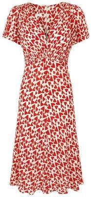 30s vintage heart tea dress