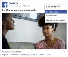Con #Facebook ora si possono incorporare su un sito esterno anche i video! #socialmediamarketing #socialnetwork