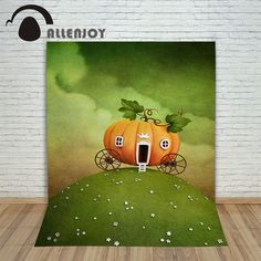 >> Click to Buy << Allenjoy Backgrounds filming Pumpkin Crown Carriage Cartoon professional camera photography vinyl backdrops #Affiliate
