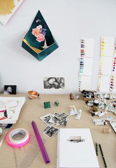 Inside the Beautiful, Creative Spaces of 10 Artists via @domainehome