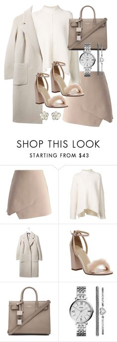 """""""Untitled #19350"""" by florencia95 ❤ liked on Polyvore featuring Chicwish, URBAN ZEN, Boutique, Office, Yves Saint Laurent, FOSSIL and Shaun Leane"""