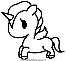 Creative And Great Picture End Result For Black And White Kawaii Unicorns Unicorn Coloring Pages Unicorn Drawing Cute Coloring Pages