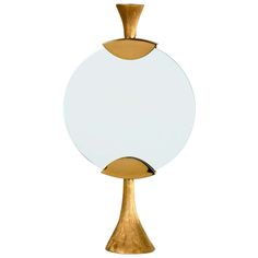 """Bronze and Glass """"Moon"""" Candlestick by Aldus   From a unique collection of antique and modern candleholders and candelabra at http://www.1stdibs.com/furniture/lighting/candleholders-candelabra/"""