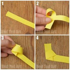 Origami Lucky Stars - making a knot